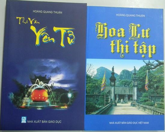 Hai tập thơ đã xuất bản của tác giả Hoàng Quang Thuận (Ảnh: HN)