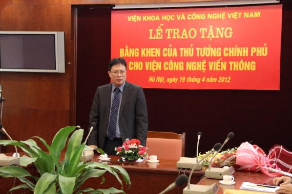 GS. Châu Văn Minh phát biểu chúc mừng tại buổi lễ