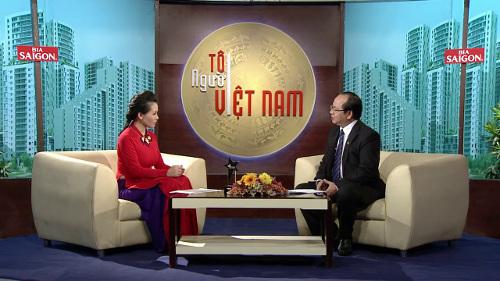 Giáo sư Viện sĩ Hoàng Quang Thuận trả lời câu hỏi của người dẫn chương trình