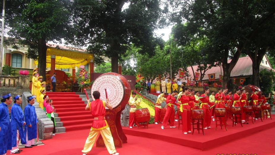 Màn trống hội hào hùng giữa không gian lịch sử của Di tích Hoàng Thành Thăng Long - Hà Nội