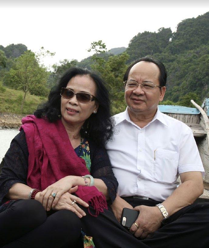 GS.VS Hoàng Quang Thuận và phu nhân
