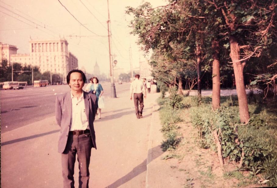 GS.VS Hoàng Quang Thuận tại Matxcova năm 1986