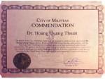 Những bằng khen cao quý cho GS Hoàng Quang Thuận và Viện Công Nghệ Viễn Thông
